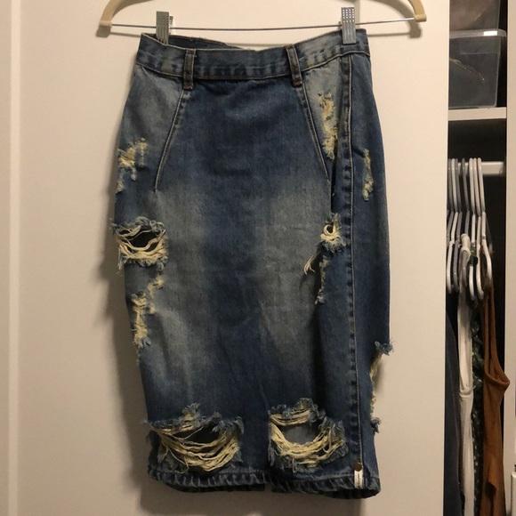 One Teaspoon Dresses & Skirts - One teaspoon jean pencil skirt.
